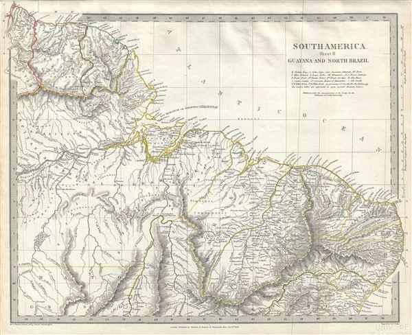 South America Sheet II Guayana and North Brazil.