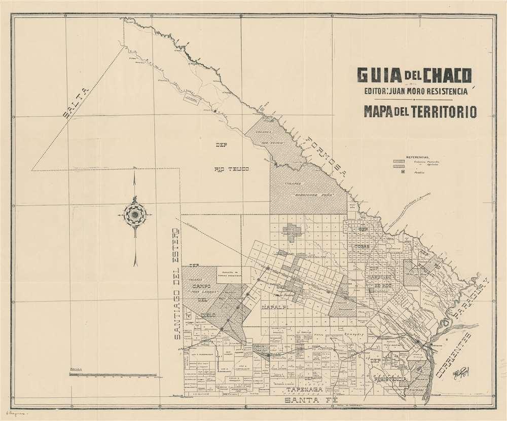Guia del Chaco. Mapa del Territorio.