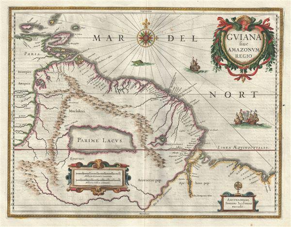 Guiana siue Amazonum Regio.