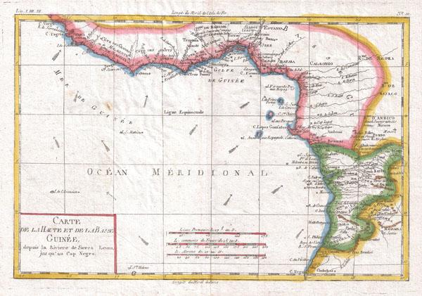 Carte De La Haute Et De La Basse Guinee