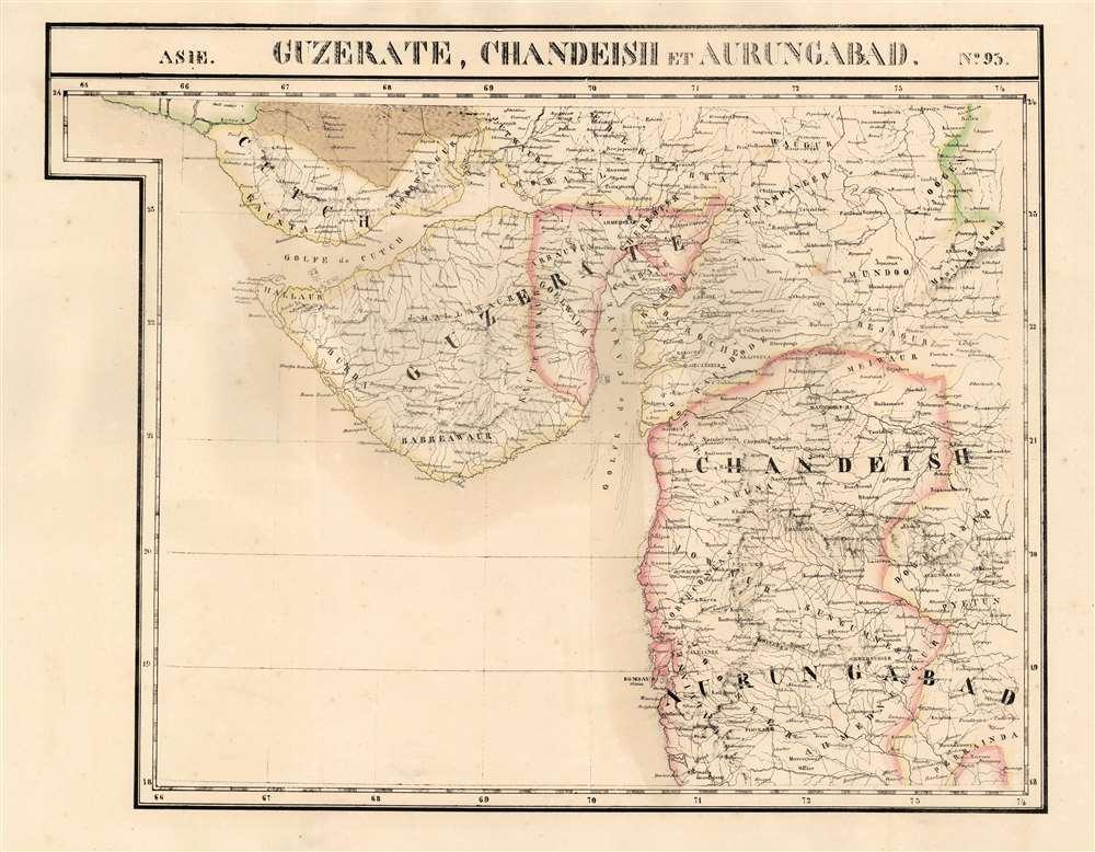 Guzerate, Chandeish et Aurungabad. Asie no. 93. - Main View