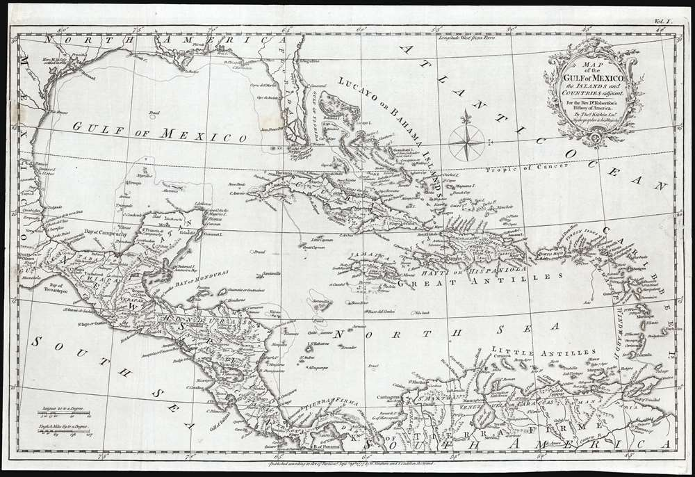 Map of the Gulf of Mexico, the Islands and Countries Adjacent. - Main View
