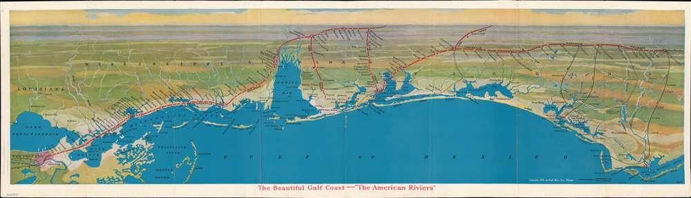 The Beautiful Gulf Coast - 'The American Riviera'. - Main View