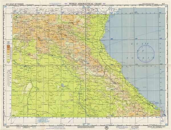 Map Of Asia Gulf Of Tonkin.Gulf Of Tonkin Laos Thailand Vietnam Geographicus Rare Antique Maps