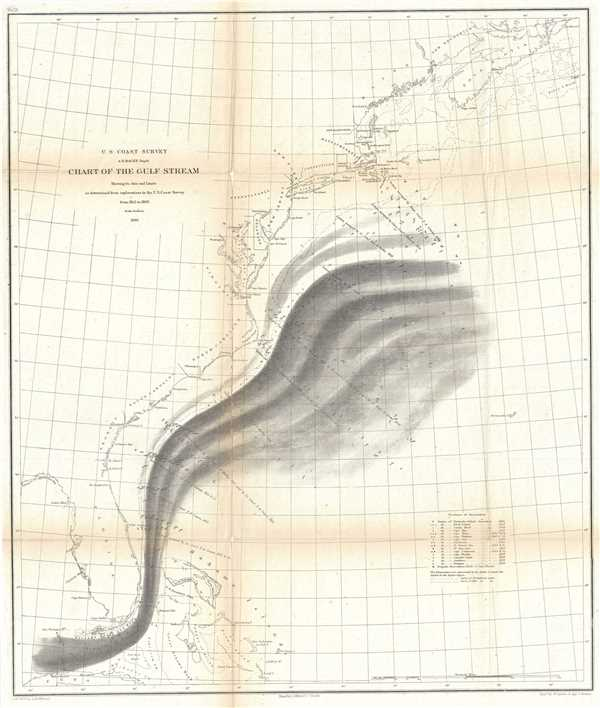 Chart of the Gulf Stream.