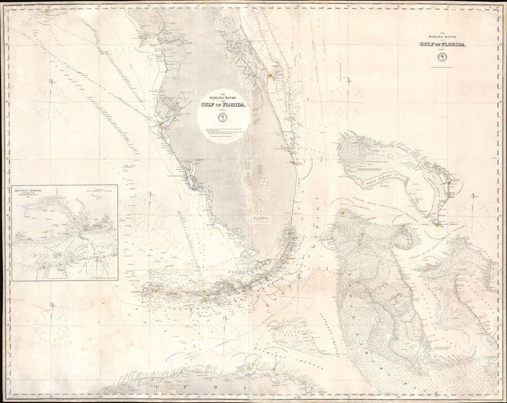 The Bahama Banks and Gulf of Florida, Sheet 1. - Main View
