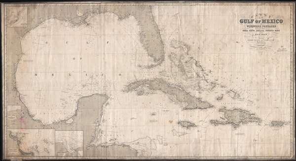 Chart of the gulf of mexico and windward passages including the chart of the gulf of mexico and windward passages including the islands of cuba haiti gumiabroncs Gallery