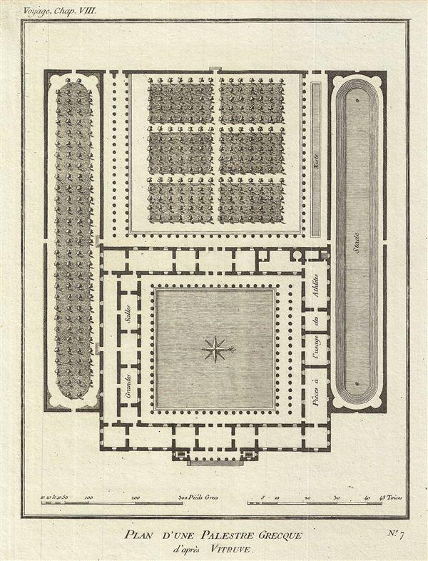 Plan d'une Palestre Grecque d'apres Vitruve.