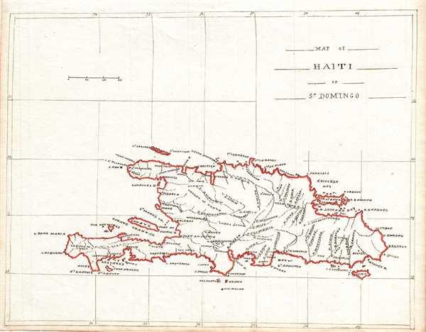 Map of Haiti or St. Domingo.