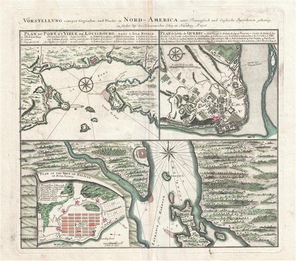 Vorstellung einiger Gegenden und Plaetze in Nord-America unter Franzoesisch und Englische Jurisdiction gehoerig.