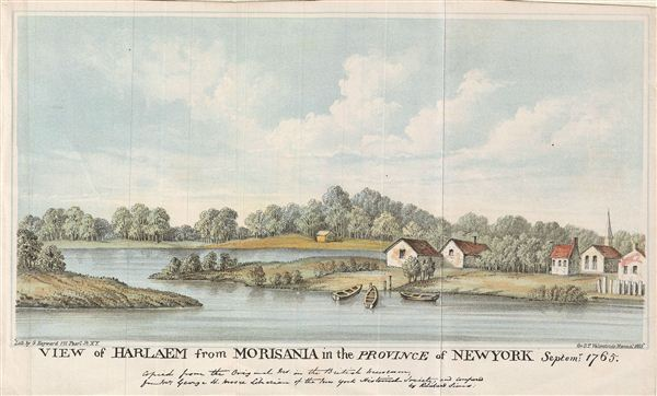 View of Harlaem from Morisania in the Province of New York Septemr 1765.