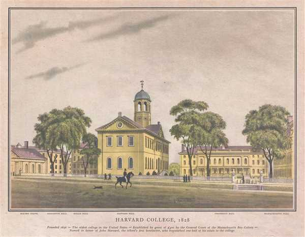 Harvard College, 1828. - Main View