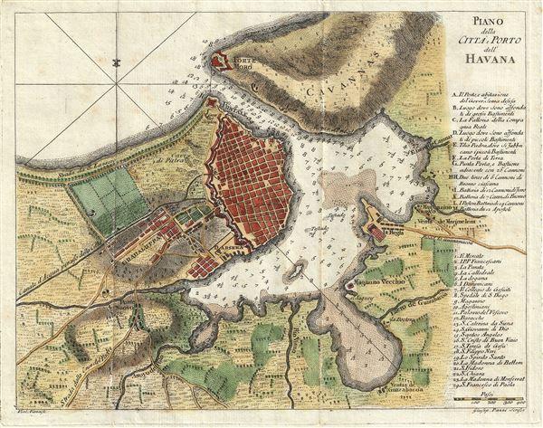 Piano della Citta e Porto dell' Havana.