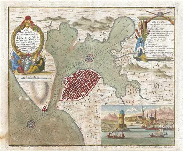 Neu und Verbesserter Plan der St. u Hafens Havana auf der Ins. Cuba