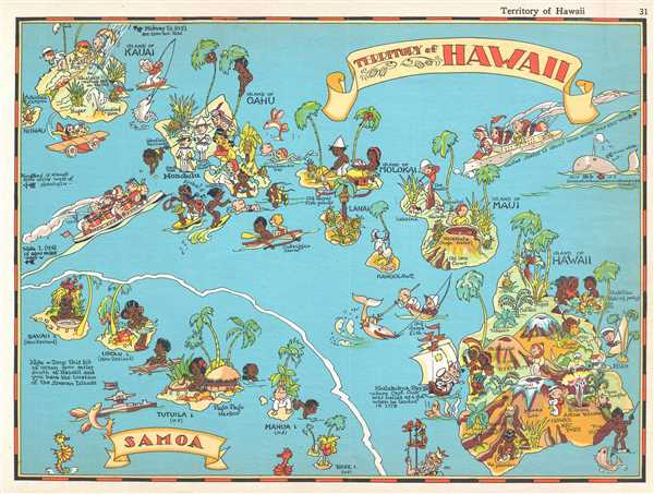 Territory Of Hawaii Samoa Geographicus Rare Antique Maps