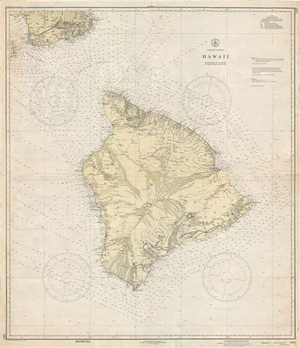 Hawaiian Islands Hawaii Geographicus Rare Antique Maps