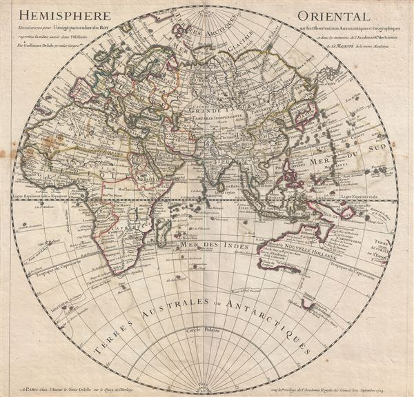 Hemisphere Oriental. - Main View