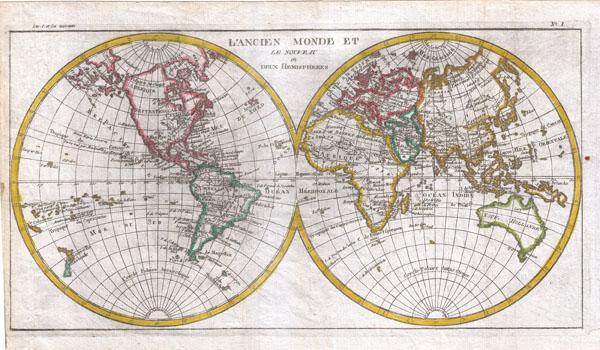 L'Ancien Monde Et Le Nouveau En Deux Hemispheres