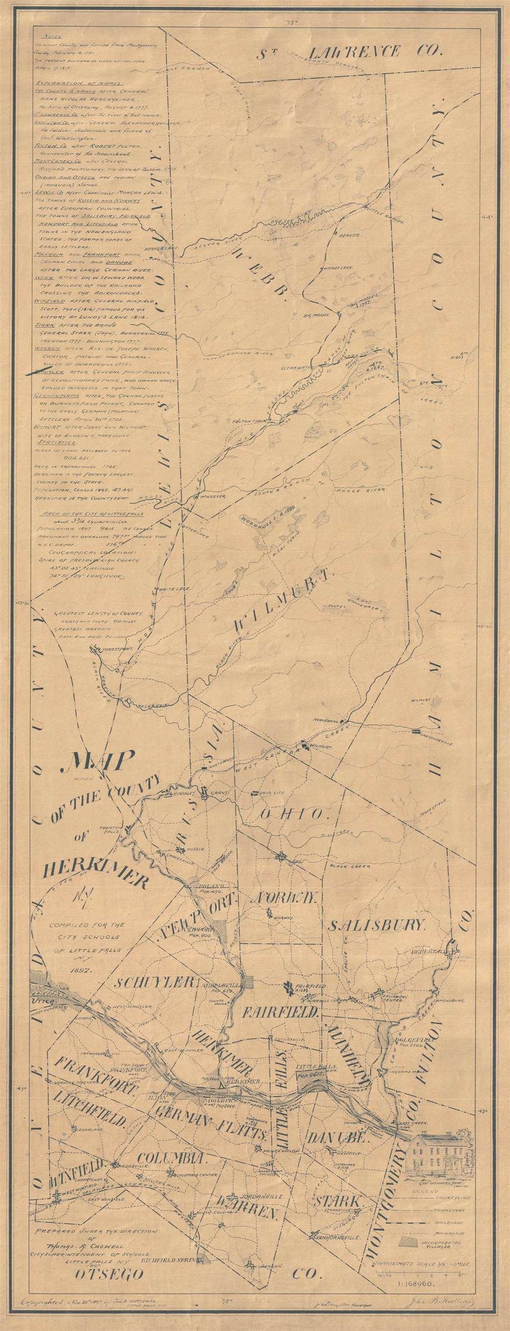 1897 Koetteritz Map of Herkimer County, New York