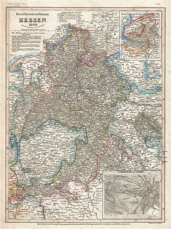 Kurfurstentum Hessen. - Main View