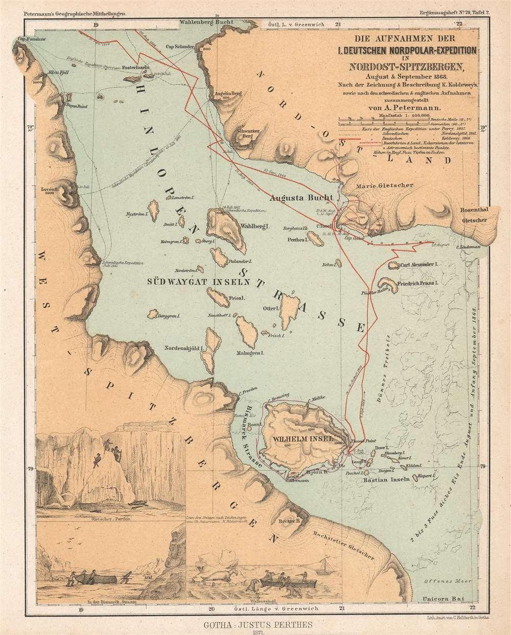 Die Aufnahmen der I. Deutschen Nordpolar-Expedition in Nordost-Spitzbergen, August und September 1868. - Main View