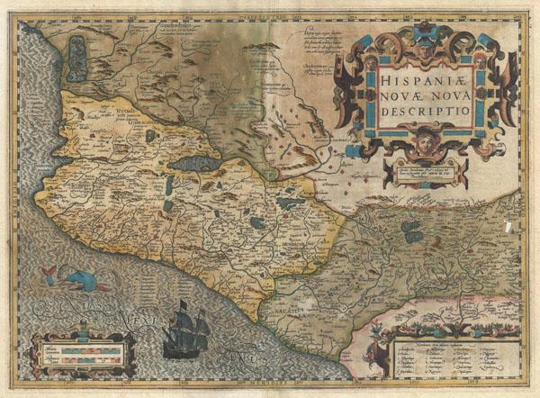 Hispaniae Novae Nova Descriptio. - Main View