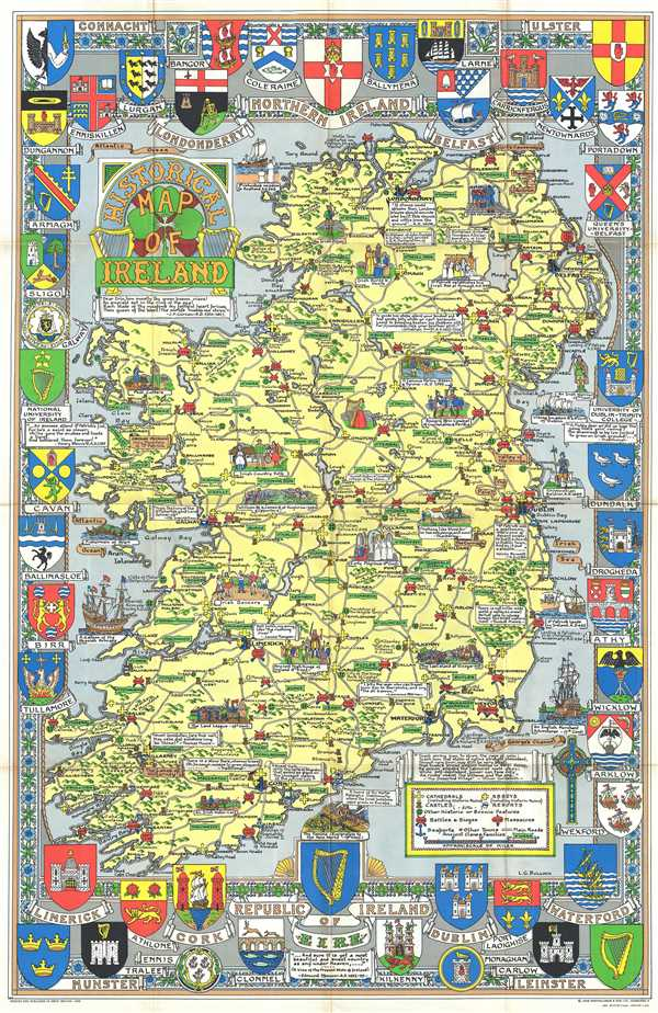 Historical Map of Ireland.