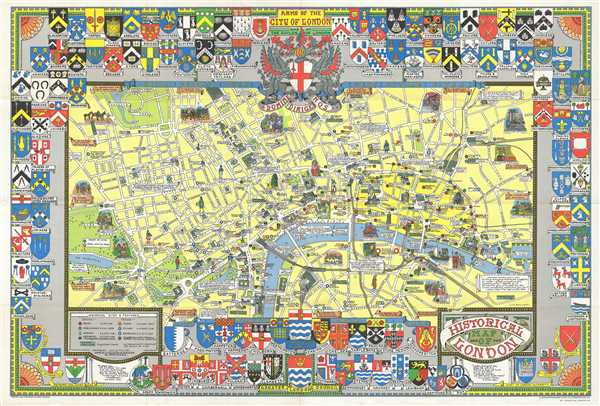 Historical Map of London.