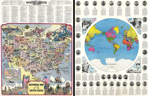 Historical Map of the United States / The World ...