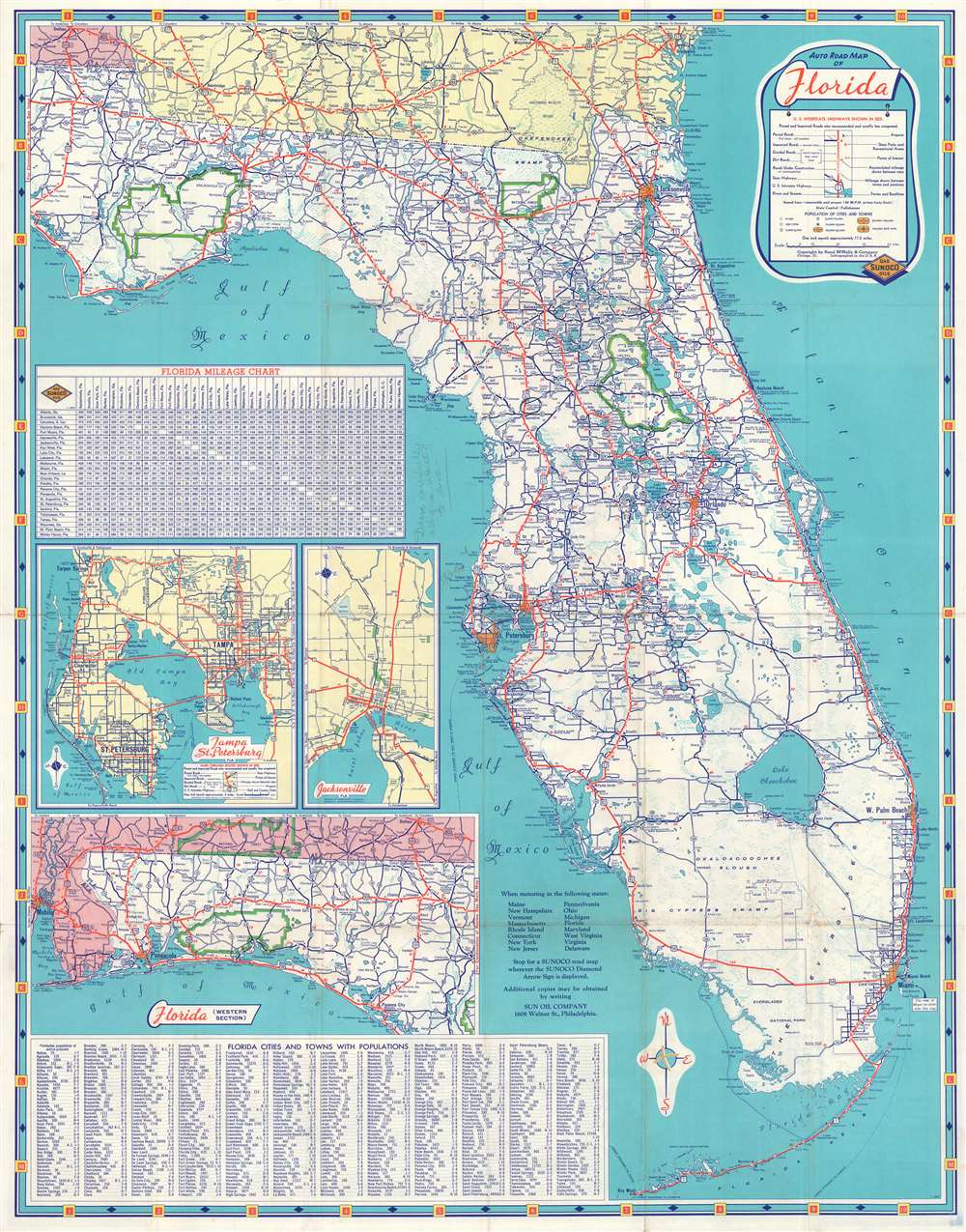 Historical Scenic Map of Florida. - Alternate View 1