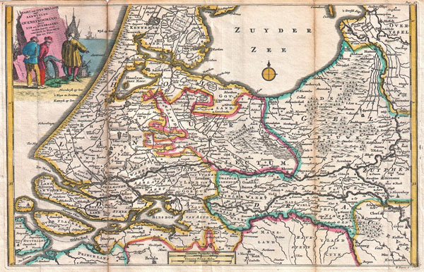 1747 La Feuille Map of Holland
