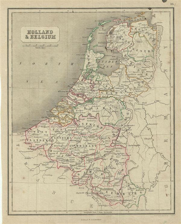 Holland & Belgium. - Main View