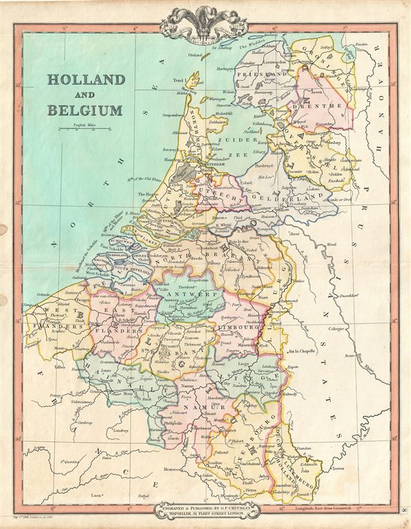 Holland and Belgium Geographicus Rare Antique Maps