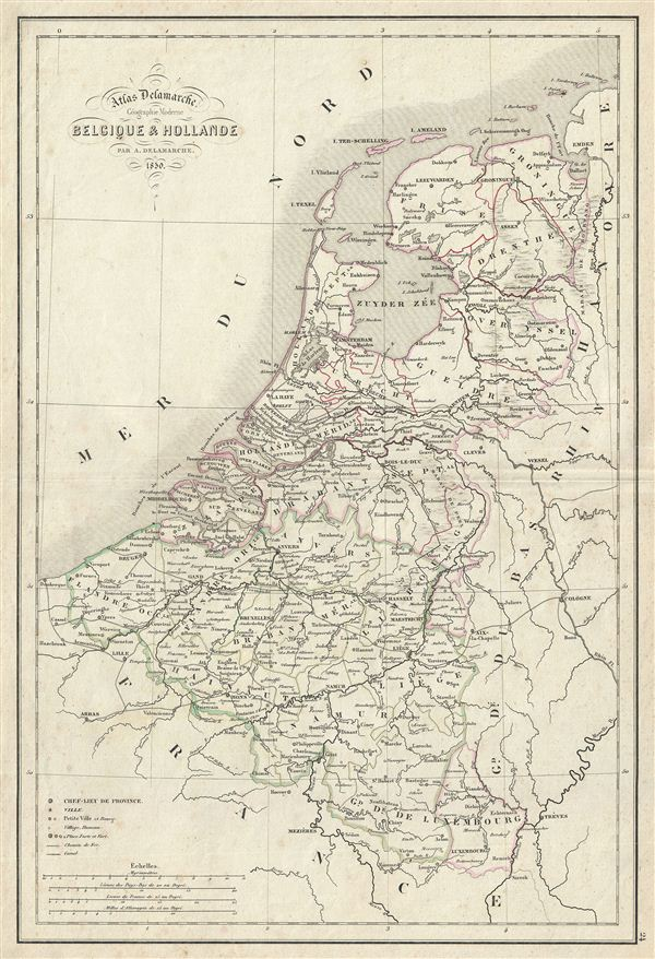 Belgique Hollande Geographicus Rare Antique Maps