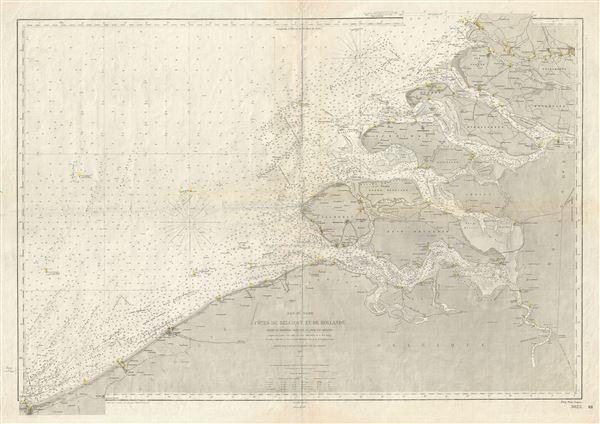 Mer du Nord Cotes de Belgique et de Hollande (Entre la Frontiere Francaise et Hoek van Holland).