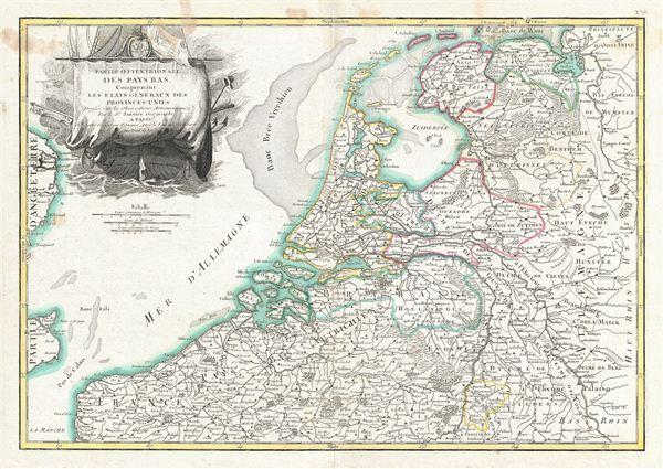 Partie Septentrionale des Pays Bas, Comprenant Les Etats Generaus des Provinces Unies.