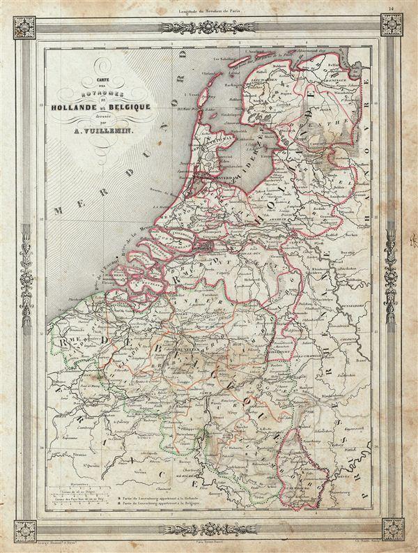Carte des Royaumes de Hollande et Belgique.