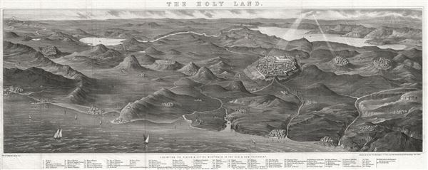 The Holy Land.  Exhibiting the Places and Cities Mentioned in the Old and New Testament. - Main View