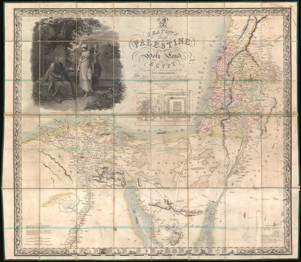 Seaton's Map of Palestine, or the Holy Land, with part of Egypt.