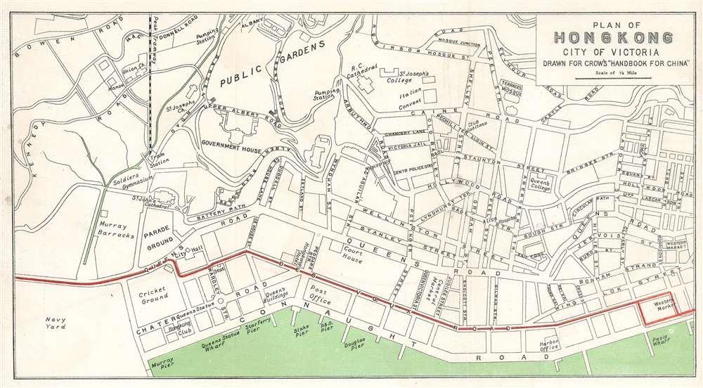 Plan of Hong Kong. City of Victoria. Drawn for Crow's 'Handbook for China.' - Main View