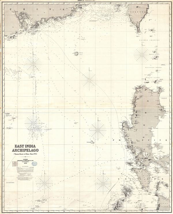 East India Archipelago (Western Route to China Chart no. 6) - Main View