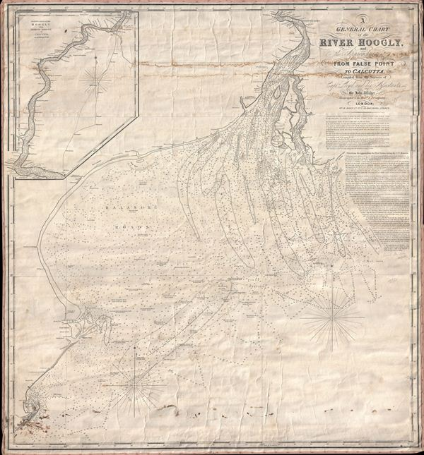 A General Chart of the River Hoogly and the Approaches to it from False Point to Calcutta, Compiled from the Surveys of Captn. Lloyd, and his Assistants, by John Walker.