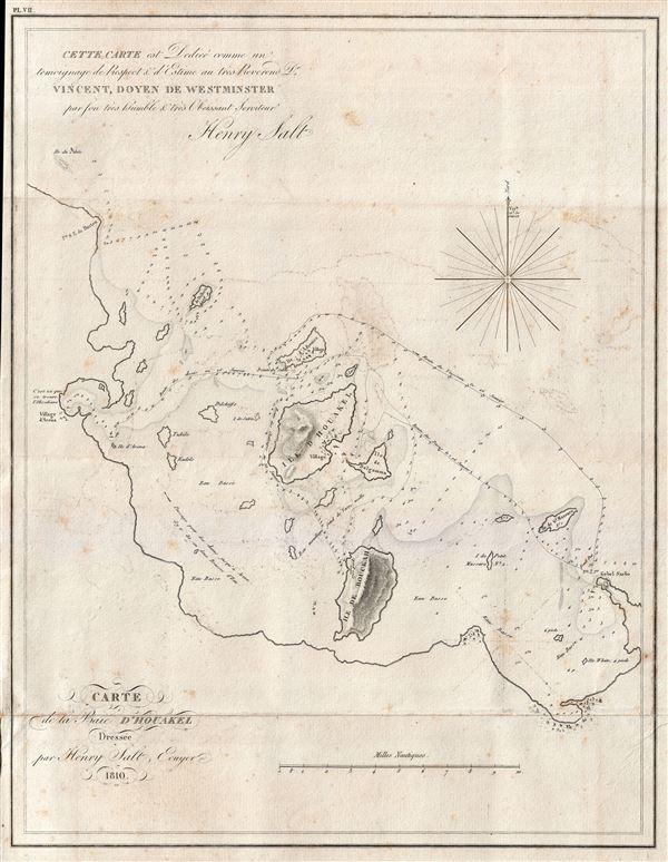 Carte de la Baie D'Houakel.