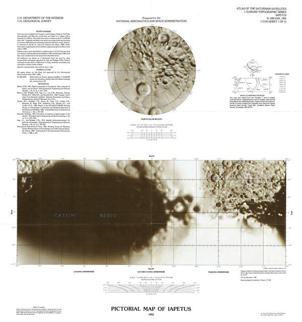 Pictorial Map of Iapetus. - Main View