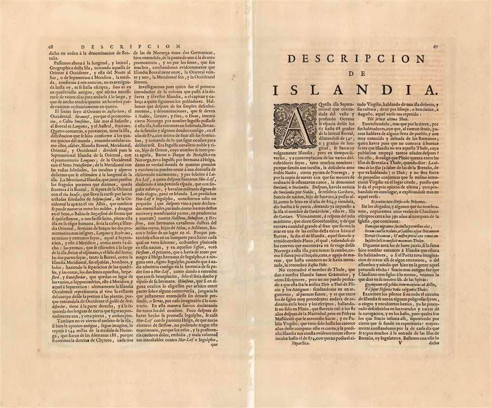 Tabula Islandiae Auctore Georgio Carolo Flandro. - Alternate View 1