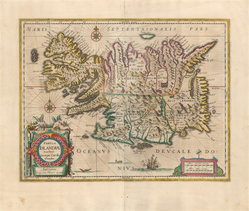 Tabula Islandiae Auctore Georgio Carolo Flandro. - Main View