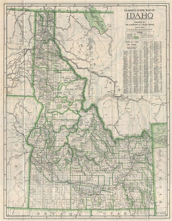 Clason's Guide Map of Idaho.