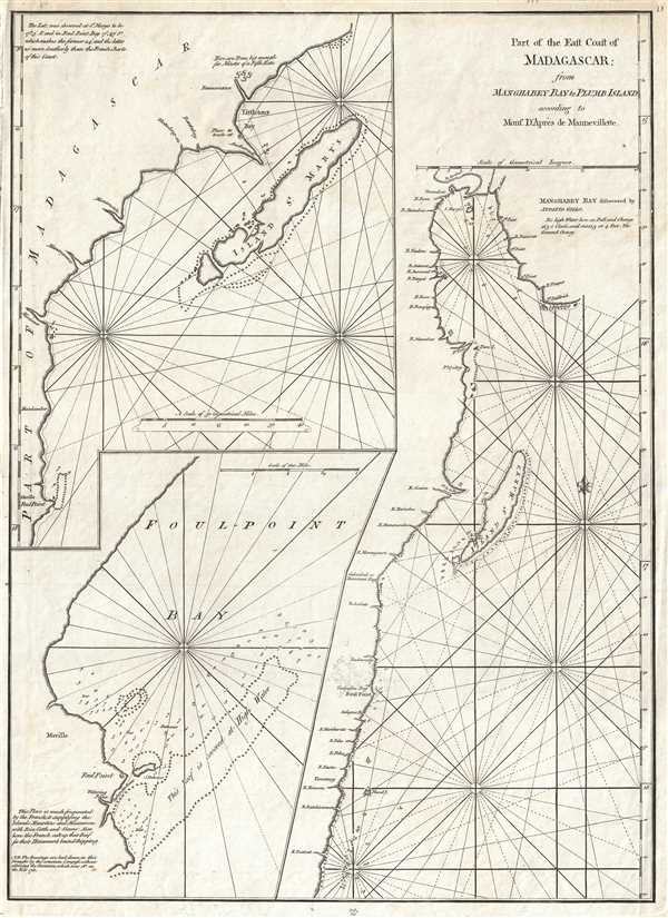 Part of the East Coast of Madagascar from Manghabey Bay to Plumb Island according to Mons. D'Apres de Mannevillette.