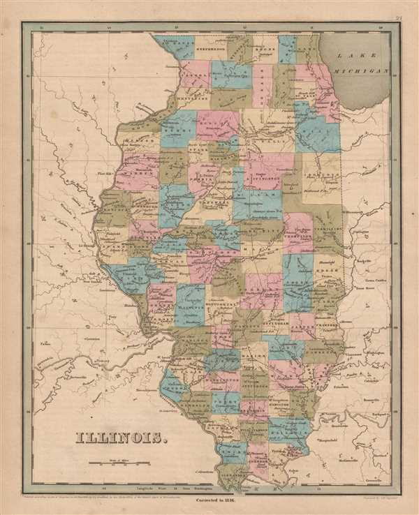 Illinois.: Geographicus Rare Antique Maps