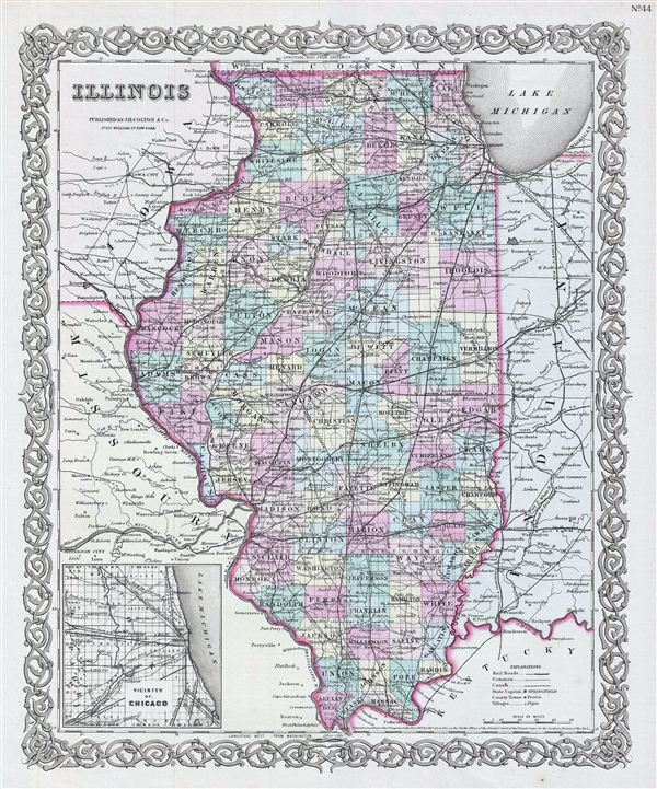 Illionois.: Geographicus Rare Antique Maps